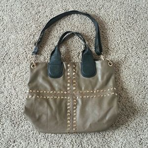 Handbags - Taupe bag with gold studs